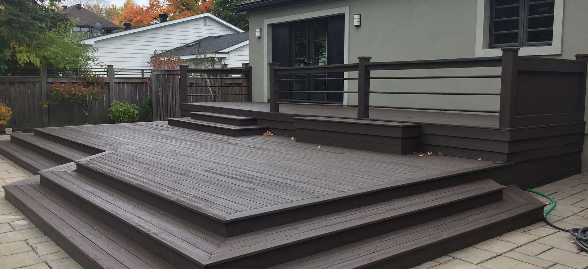 Modern Deck and Hot Tub -  Barista