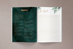 Gratitude Journal Design Interior Pages.