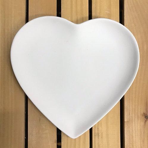 """9"""" Heart Plate"""