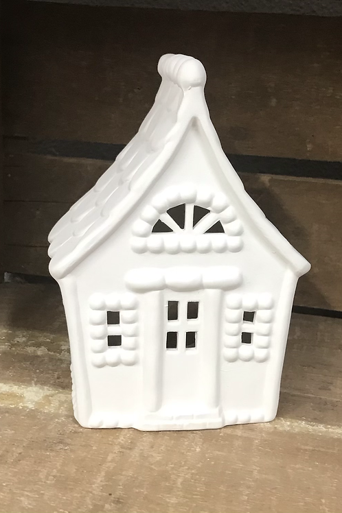 Gingerbead House Lantern with tea light