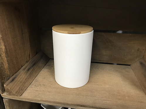 Kitchen Canister with Bambo Lid