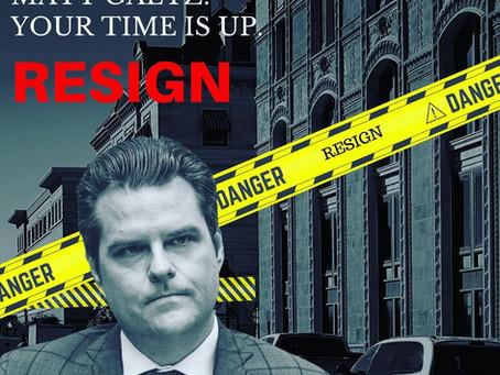 Democratic Leadership Across The Florida Panhandle Call On The Resignation Of Congressman Matt Gaetz