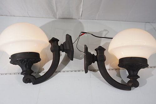 Pair Of Cast Iron Exterior Sconces