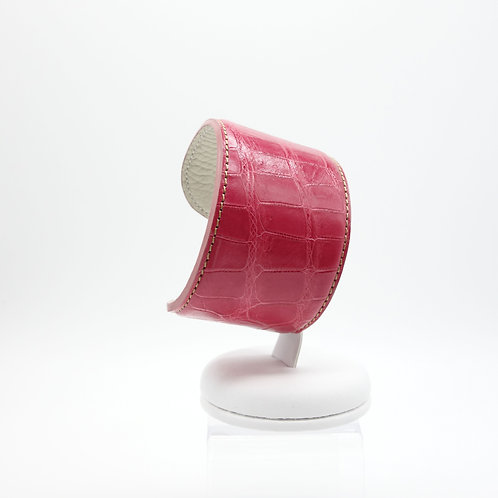 Exotic leather cuff
