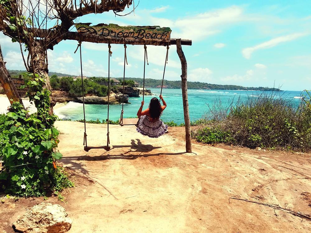 dream beach, bali swing, bali, wanderprenuer, adventure