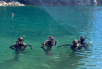 Fun diving at Diveland Park, Alabama