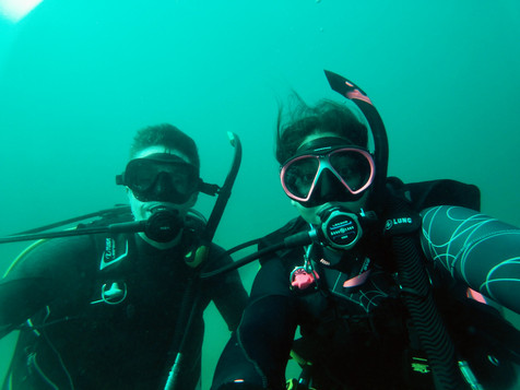 Me and my dive buddy, Adam