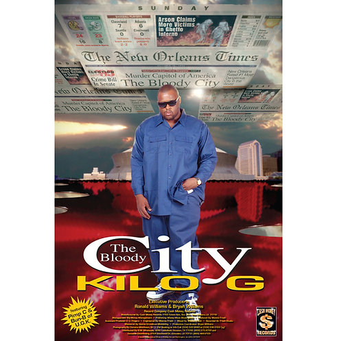 "KILO G, The Bloody City, 24"" x 36"" Poster"