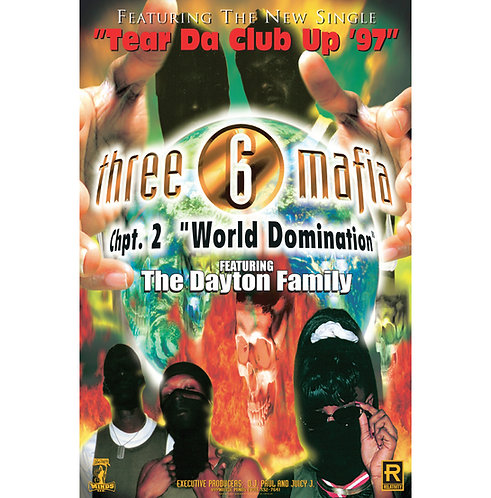"Three 6 Mafia,  World Domination, 24"" x 36"" Poster"