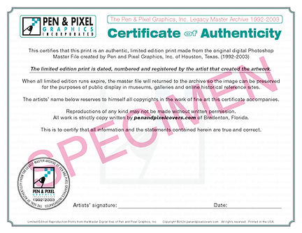 Pen and pixel poster Certificate back