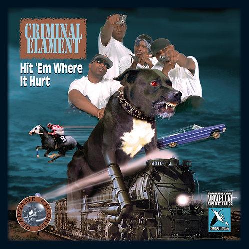 Criminal Elament, Hit 'Em Where It Hurt, Album Poster