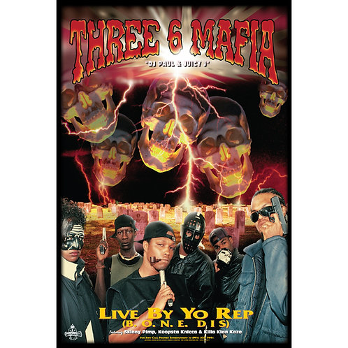 "Three 6 Mafia,  Live By Yo Rep, 24"" x 36"" Poster"