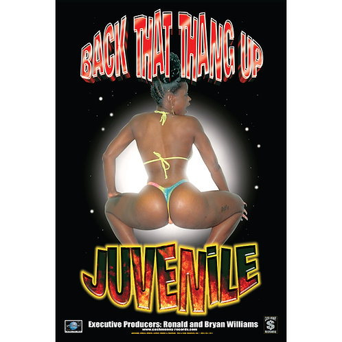 """Juvenile, Back That Thang Up, 24"""" x 36"""" Poster"""