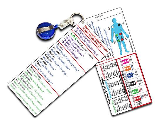 EMT Dual Pocket Guide Cards- (2 separate cards)