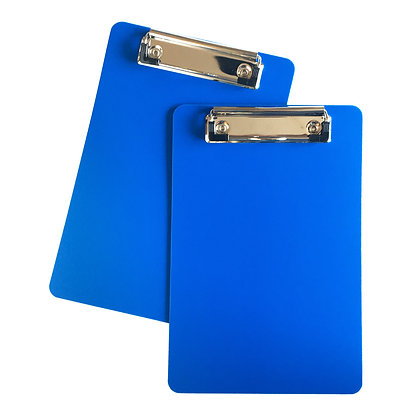 "Hyper-Flex Sani-plastic Pocket Clipboard 6""x9""  2 pack (EMS blue)"