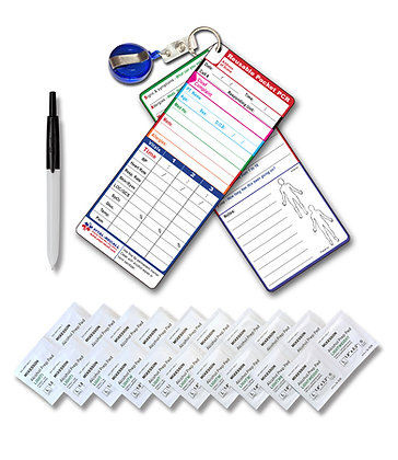 Reusable Self-guided Pocket PCRs (2 erasable all weather cards)