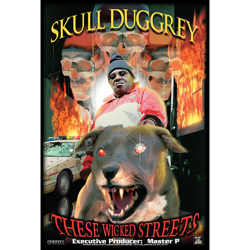"""Skull Duggery,  These Wicked Streets, 24"""" x 36"""" Poster"""