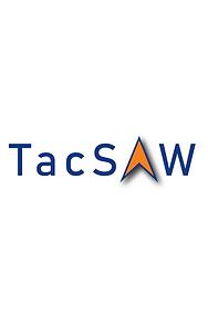 TacSAW logo_new colors_bahnschrift_tall
