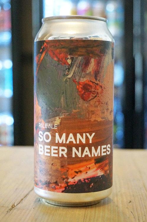 BOUNDARY - SO MANY BEER NAMES