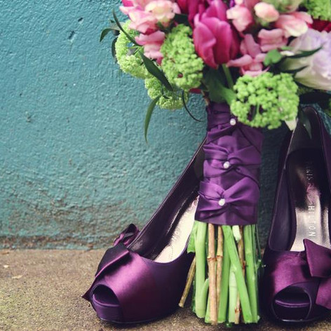 Wedding Bouquet Tulips purple