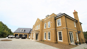 York House - Georgian style new build house set in a sloped wooded residential estate