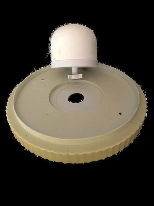 Ceramic Dome & white plate