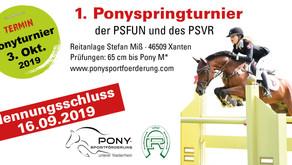 1. Ponyspringturnier der PSFUN und des PSVR