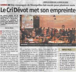 Journal du centre - 20/02/17