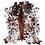 Thumbnail: Italian Cowhide Rug | Tri Colour | XXL