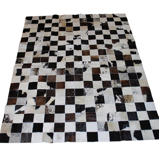 Patchwork Cowhide Rug | Mixed Browns | 150cm x 200cm