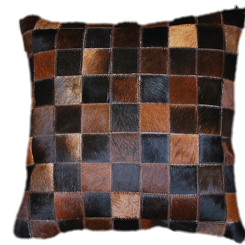 Cowhide Cushion | Natural Dark Brown 45cm x 45cm