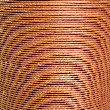 Meisi Superfine Waxed Linen Thread   Caramel   MS004