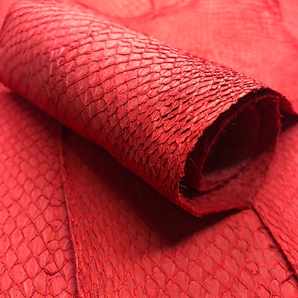 Salmon Suede Leather   Red
