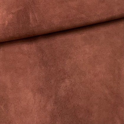 Red Brown Suede Leather    1.0/1.2mm   Conceria Tre EffePink