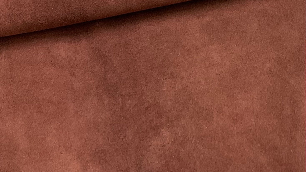 Red Brown Suede Leather  | 1.0/1.2mm | Conceria Tre EffePink