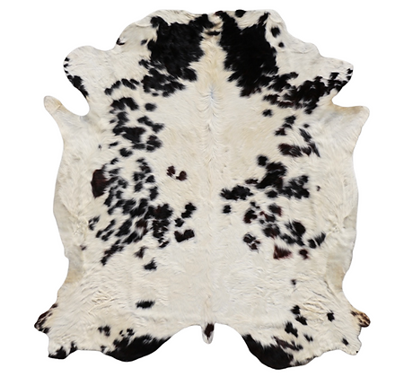 Italian Cowhide Rug | Black and White | XXL
