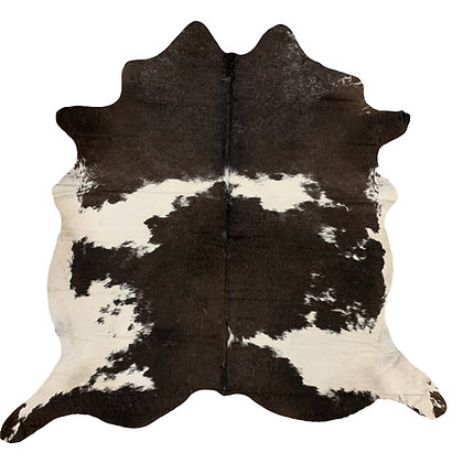Cowhide Rug | Black and White | L | 10228