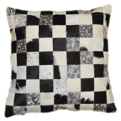 Cowhide Cushion | Natural Black & White 45cm x 45cm