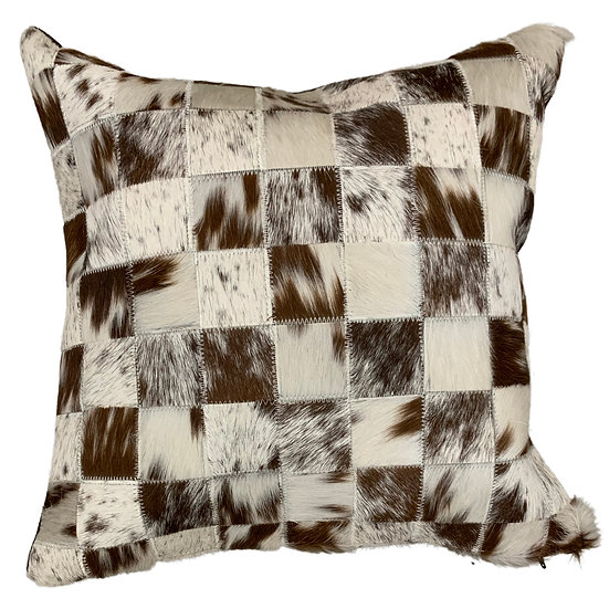 Cowhide Pillow | Light Brown Speckle | 45cm x 45cm