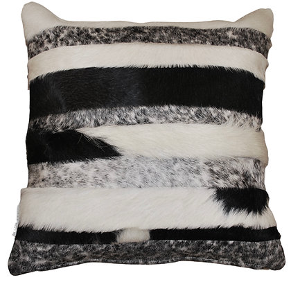 Cowhide Cushion Stripes | Natural Black and White | 45cm x 45cm