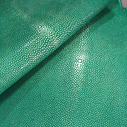 Stingray Leather | Sapphire Green | Polished