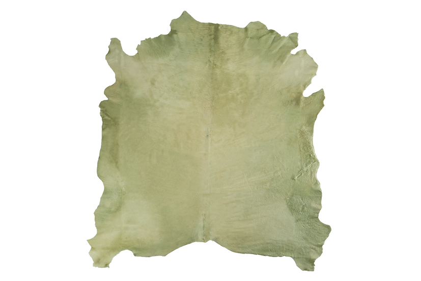 Italian Dyed Cowhides | Mint Green