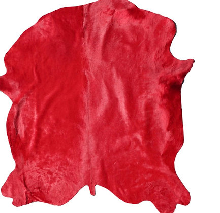 Italian Dyed Cowhide Rug | Rosso