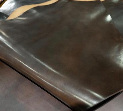 Horween Leather   Shell Cordovan   Dk Cognac