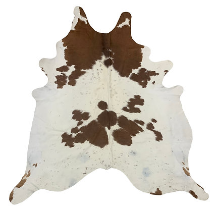Cowhide Rug   Brown and White   L   10200
