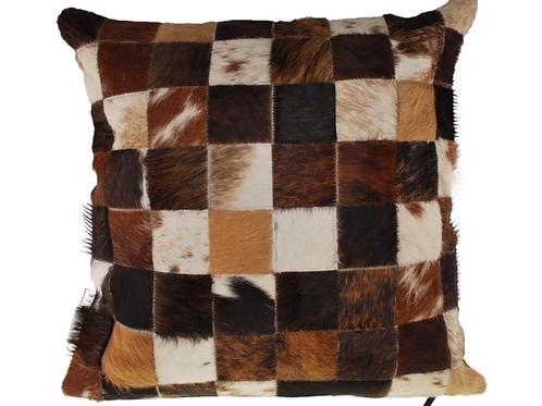 Cowhide Cushion | Natural Mixed Browns 45cm x 45cm