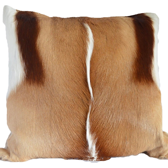 Springbok Hide Throw Cushion Natural