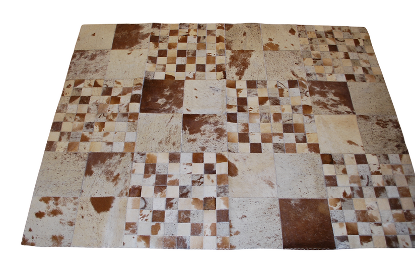 Patchwork Cowhide Rug | Brown Speckle | 118cm x 158cm