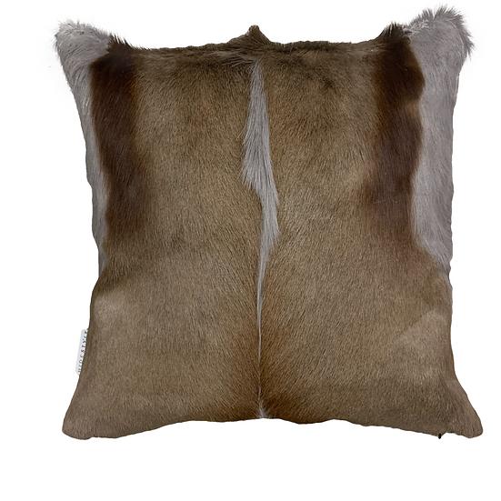 Springbok Hide Cushion | Silver