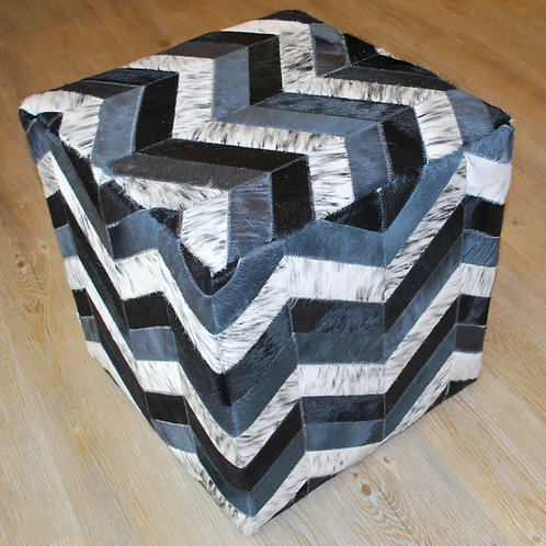 Cowhide Cube Ottoman   No.10 Design